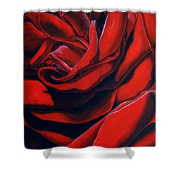 Shower Curtain featuring the painting February Rose by Thu Nguyen