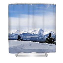 February Wind Shower Curtain by Jeremy Rhoades