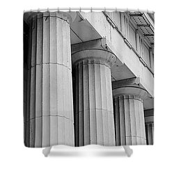 Federal Hall Columns Shower Curtain by Jerry Fornarotto