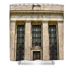 Shower Curtain featuring the photograph Federal Reserve Board Building by Mitch Cat