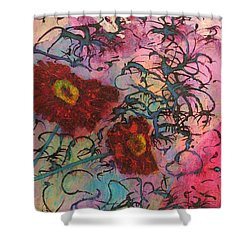 Shower Curtain featuring the painting Feel Free by Mini Arora