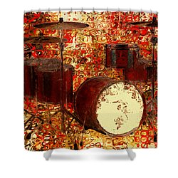 Feel The Drums Shower Curtain by Jack Zulli