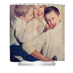 Feel The Joy Shower Curtain by Laurie Search