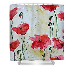Feel The Summer 1 - Poppies Shower Curtain by Ismeta Gruenwald