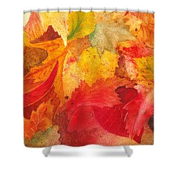 Shower Curtain featuring the painting Feeling Fall by Irina Sztukowski