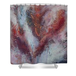 Feelings Of Love Shower Curtain by Valerie Travers