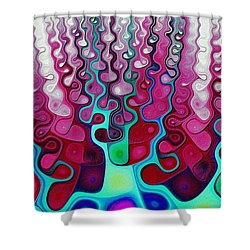 Felt Fantasy Shower Curtain by Anastasiya Malakhova