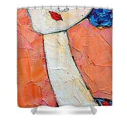 Femininity Shower Curtain by Ana Maria Edulescu