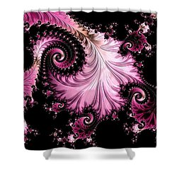 Femme Fatale Fractal Shower Curtain by Susan Maxwell Schmidt