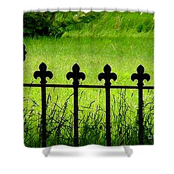 Fence And Cross Shower Curtain