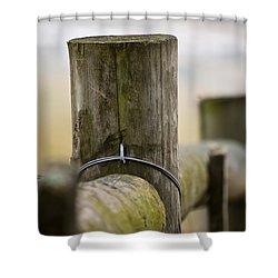 Fence Post Shower Curtain by Kerri Farley