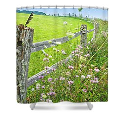 Fence Post Shower Curtain by Melinda Fawver