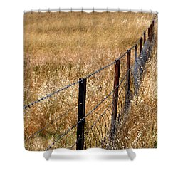 Fenced Off Shower Curtain by Kaleidoscopik Photography