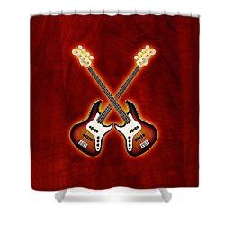 Fender Jazz Bass Lefty Shower Curtain by Doron Mafdoos
