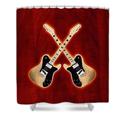 Fender Telecaster Custom Shower Curtain by Doron Mafdoos