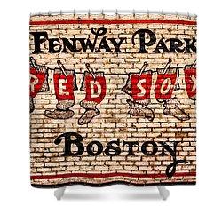 Fenway Park Boston Redsox Sign Shower Curtain
