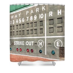 Fenway Park Scoreboard Shower Curtain