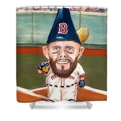 Fenway's Garden Gnome Shower Curtain by Jack Skinner