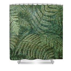 Fern Frenzy Shower Curtain by Joann Renner