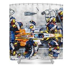 Fernando Alonso Shower Curtain