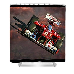 Fernando Alonso Ferrari Shower Curtain