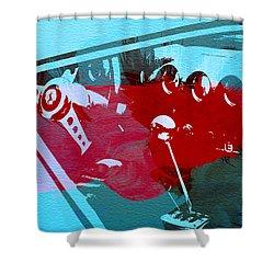 Ferrari Cockpit Shower Curtain by Naxart Studio