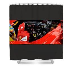 Ferrari Formula 1 Cockpit Shower Curtain