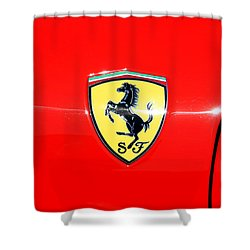 Ferrari Logo Shower Curtain