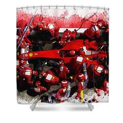 Ferrari Make Changes In Pit Lane Shower Curtain