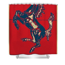 Ferrari Stallion In Hope Shower Curtain by Rob Hans
