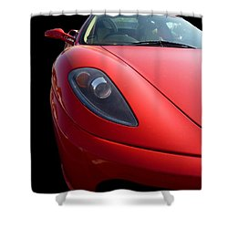 Shower Curtain featuring the photograph Ferrari by Vicki Spindler