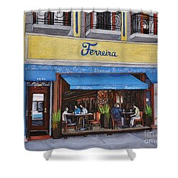 Ferreira Cafe  Shower Curtain by Reb Frost