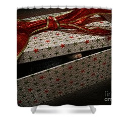 Shower Curtain featuring the photograph Ferrety Christmas by Cassandra Buckley