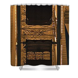 Ferris Shower Curtain by Joseph Yarbrough