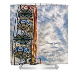Ferris Wheel Shower Curtain by Antony McAulay