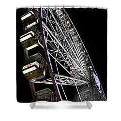 Ferris Wheel At Night Shower Curtain