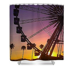 Shower Curtain featuring the photograph Ferris Wheel by Chris Tarpening