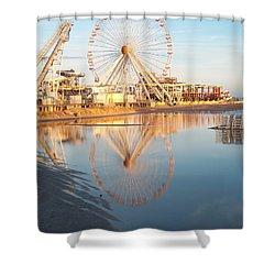 Ferris Wheel Jersey Shore 2 Shower Curtain