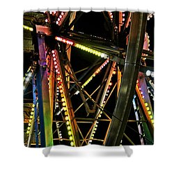 Shower Curtain featuring the photograph Lit Ferris Wheel  by Lilliana Mendez