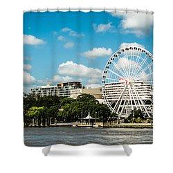 Ferris Wheel On The Brisbane River Shower Curtain