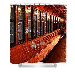 Ferry Boat Riders Shower Curtain