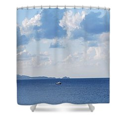 Ferry On Time Shower Curtain
