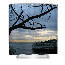 Ferryboat To Seattle  Shower Curtain