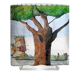 Fertile Worlds Shower Curtain by A  Robert Malcom