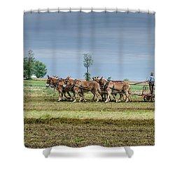 Fertilizing Shower Curtain by Guy Whiteley