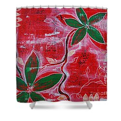 Shower Curtain featuring the painting Festive Garden 1 by Jocelyn Friis