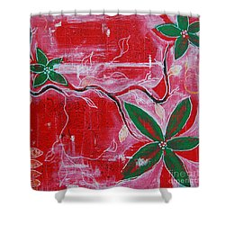 Shower Curtain featuring the painting Festive Garden 2 by Jocelyn Friis