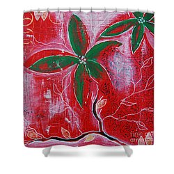 Shower Curtain featuring the painting Festive Garden 3 by Jocelyn Friis