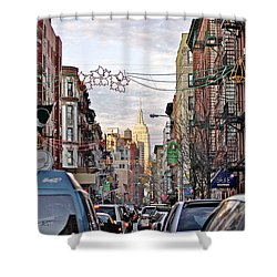 Festive Nyc Shower Curtain