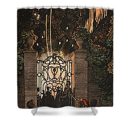 Feu D Artifice Shower Curtain by Konstantin Andreevic Somov